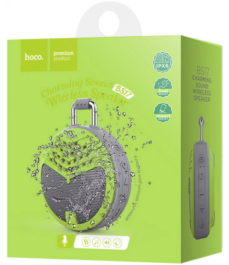 Портативні колонки Hoco BS17 Charming Bluetooth Green