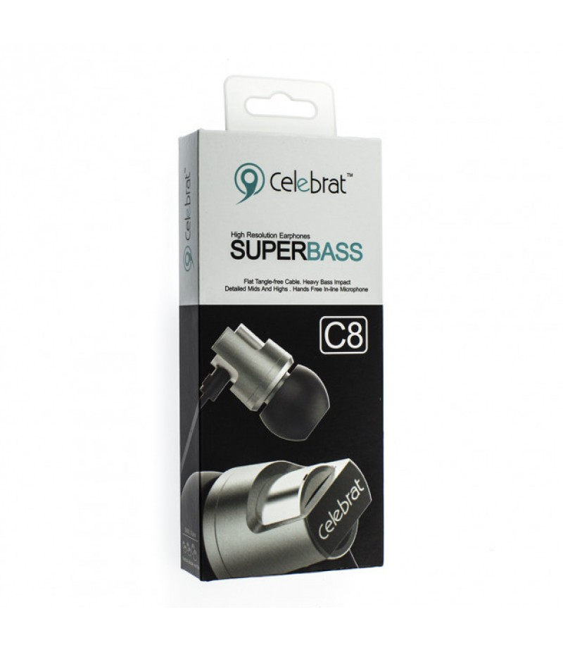 Навушники Celebrat C8 Black
