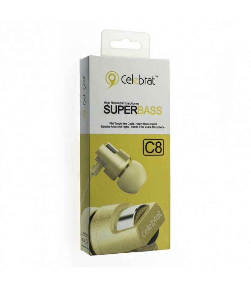 Навушники Celebrat C8 Gold