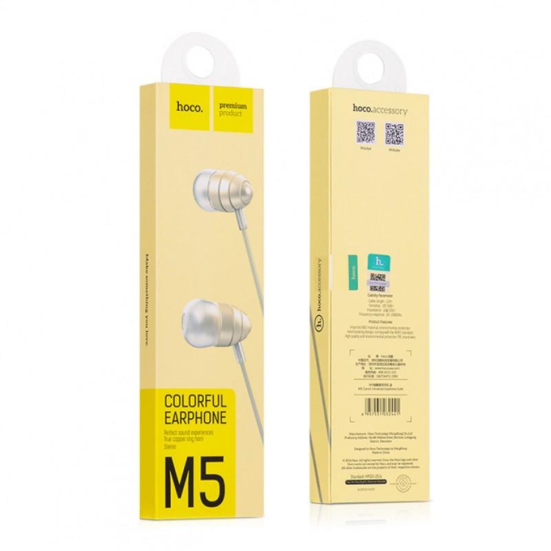 Наушники Hoco M5 gold