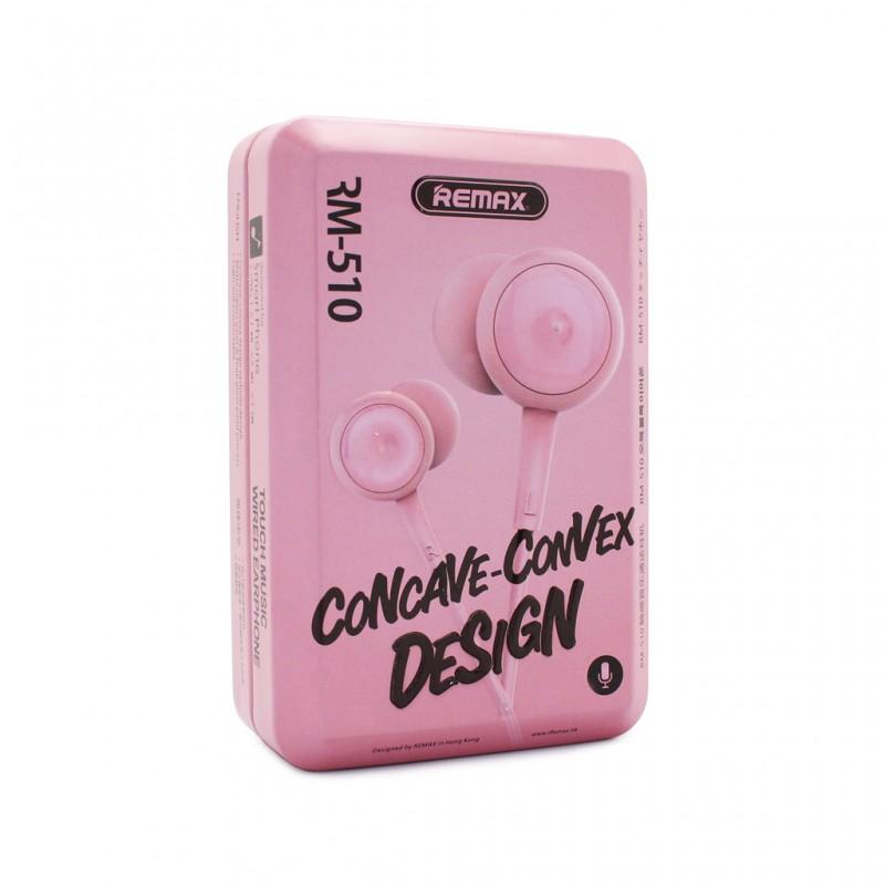 Навушники Remax RM-510 Earphone Pink