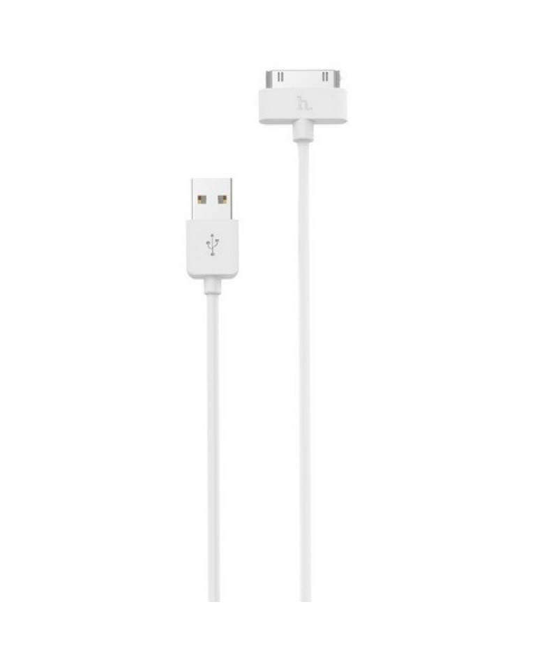 USB кабель Hoco X1 for iPhone 4 (30pin) White