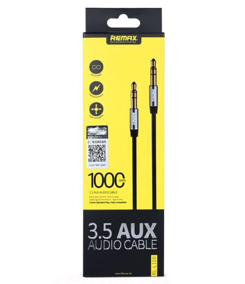 AUX cable Remax 1m black