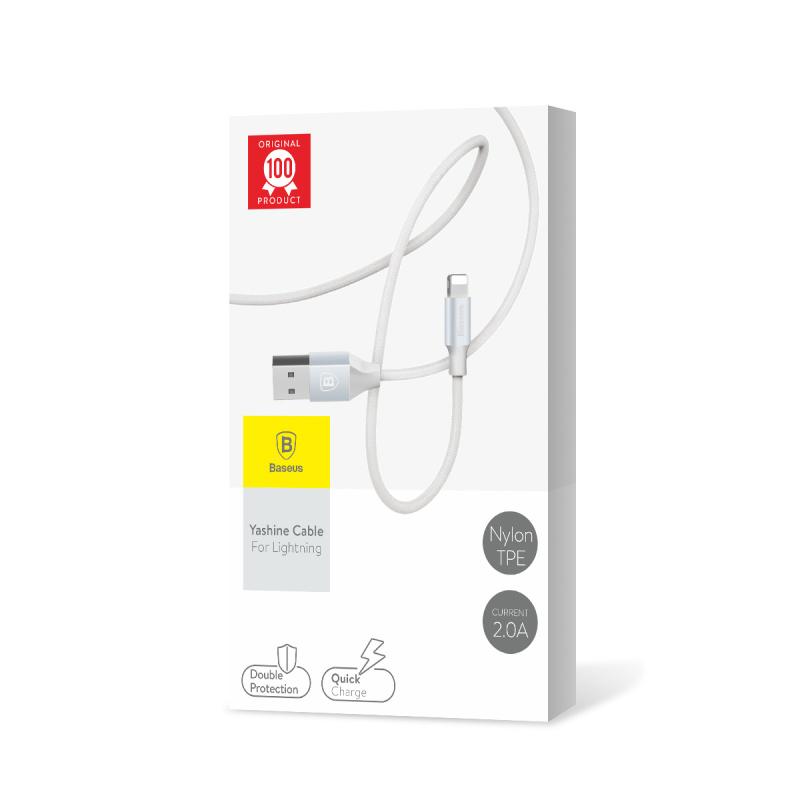USB кабель Baseus Yashine Lightning 1m Silver