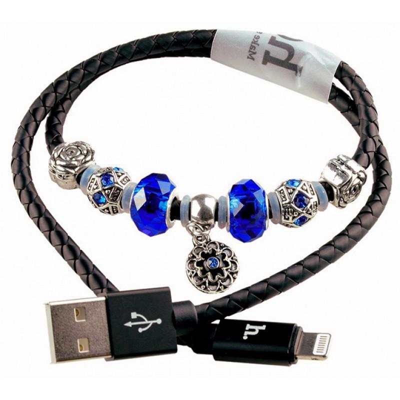 USB кабель Hoco U7 Pandora 0.5m Lightning black