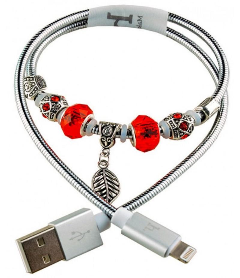 Usb cable Hoco Pandora Lightning silver