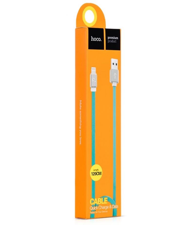 USB кабель Hoco UPL18 Waffle Lightning 1.2m Blue