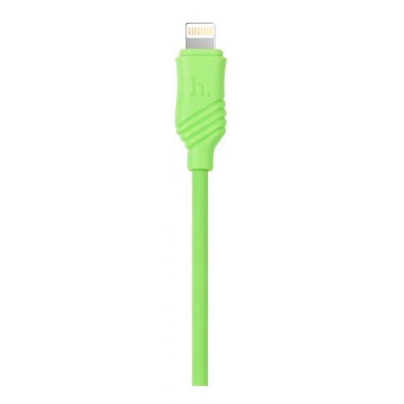 USB кабель Hoco X6 Khaki lightning 1m Green