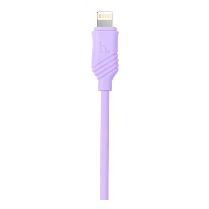 USB кабель Hoco X6 Khaki lightning 1m Purple