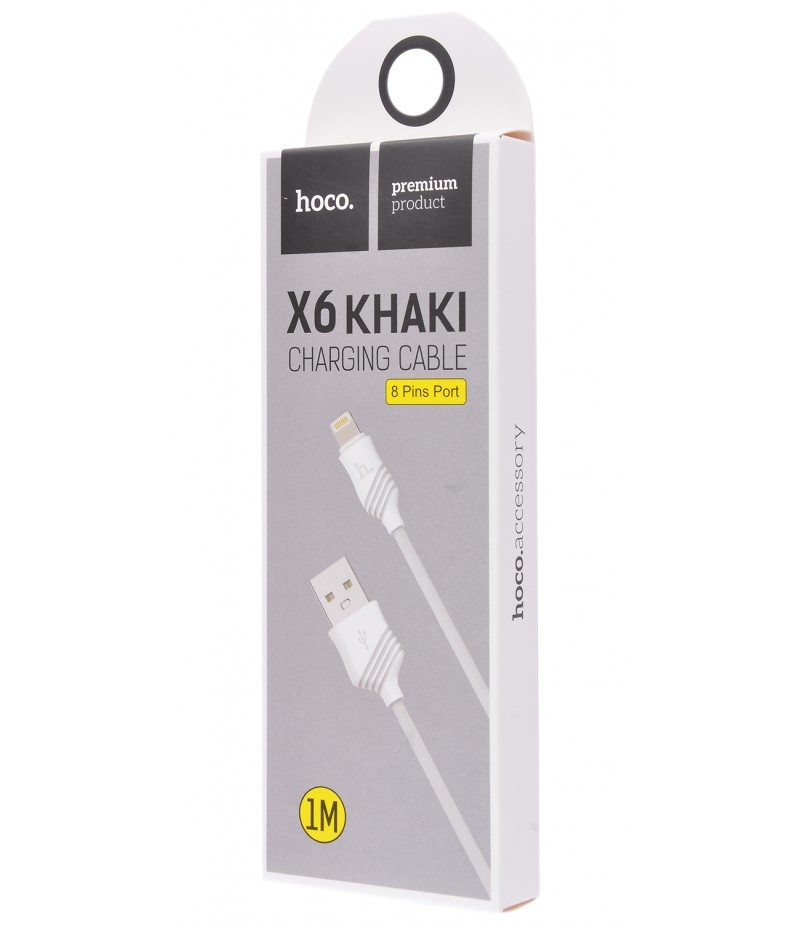 Usb cable Hoco X6 Lightning white