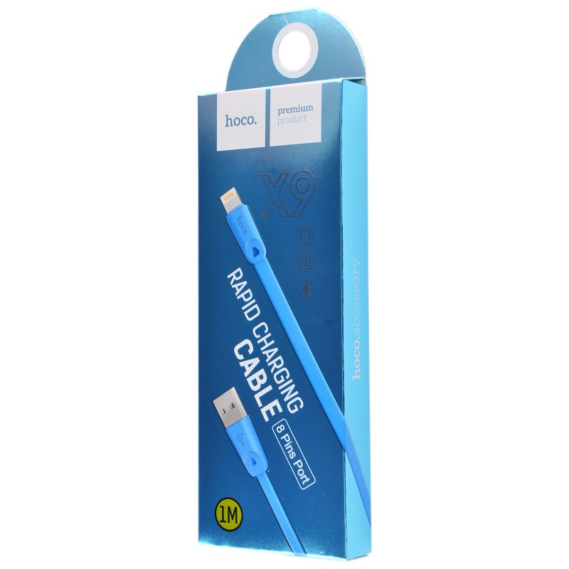 Usb cable Hoco X9 Lightning blue