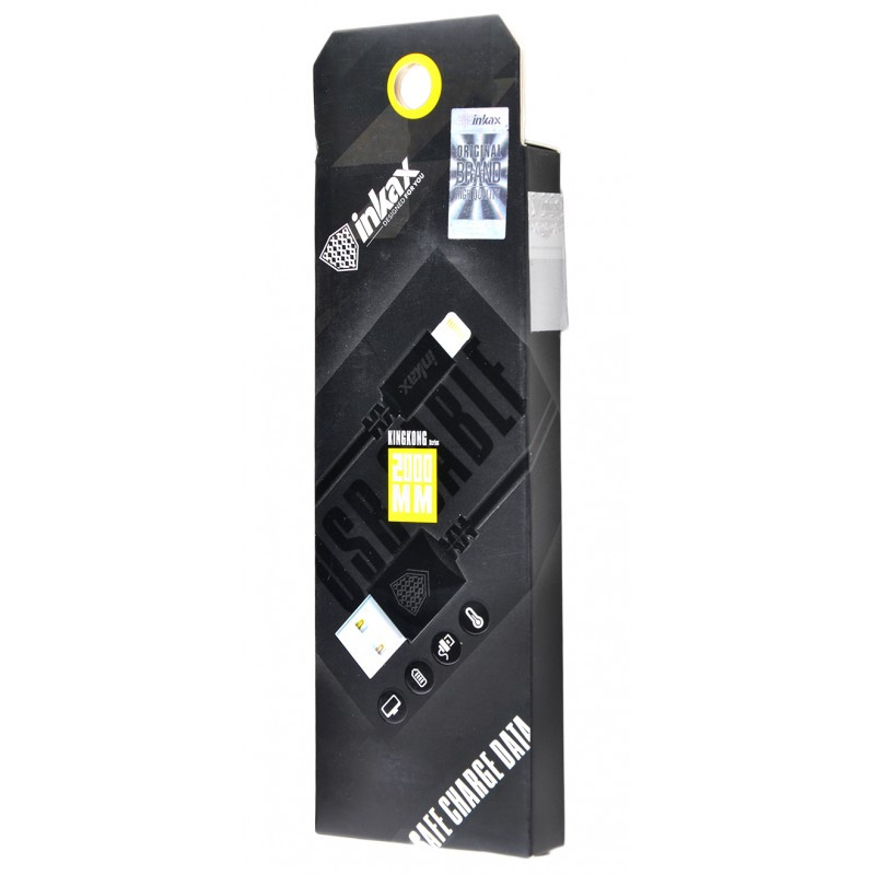 USB кабель Inkax CK-08 Lightning 2m Black