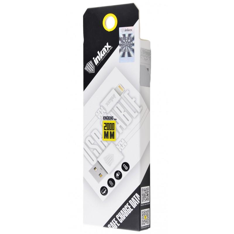 USB кабель Inkax CK-08 Lightning 2m White