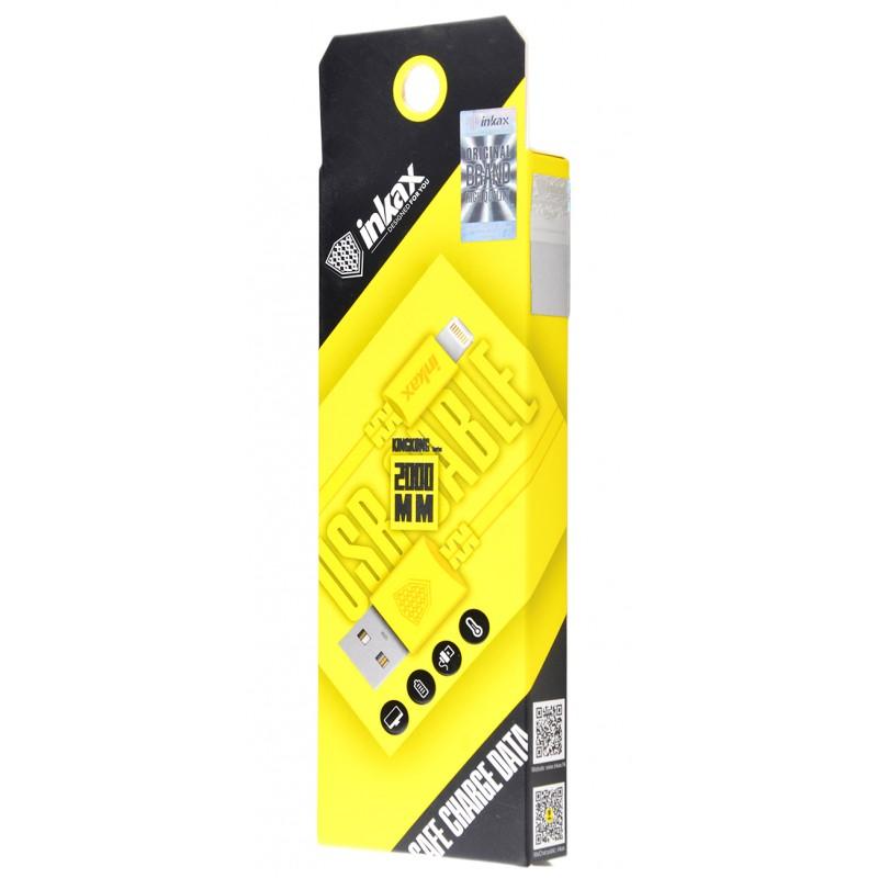 USB кабель Inkax CK-08 Lightning 2m Yellow