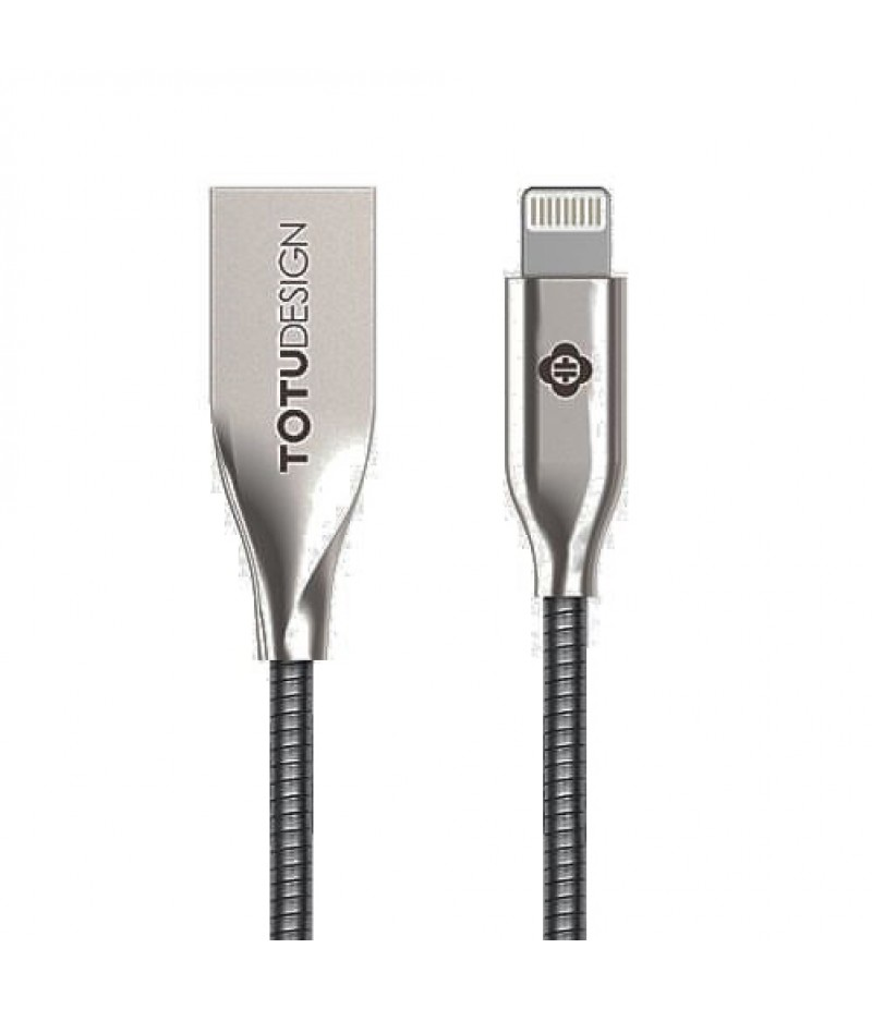 Usb cable Totu Steel Rope Lightning silver