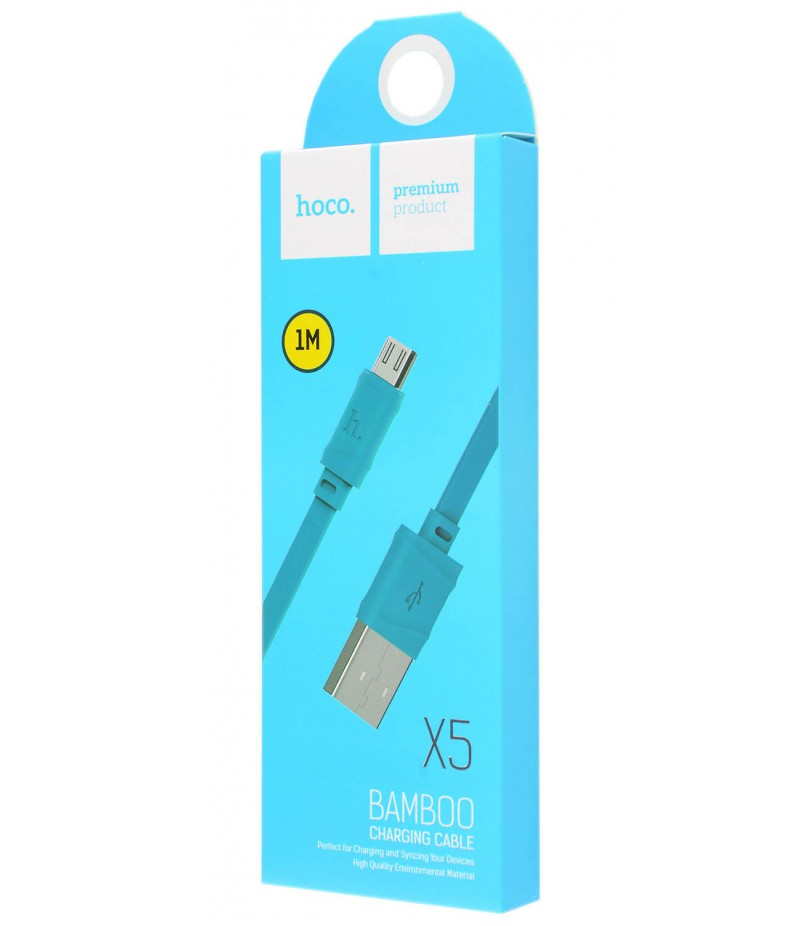 Usb cable Hoco X5 micro blue