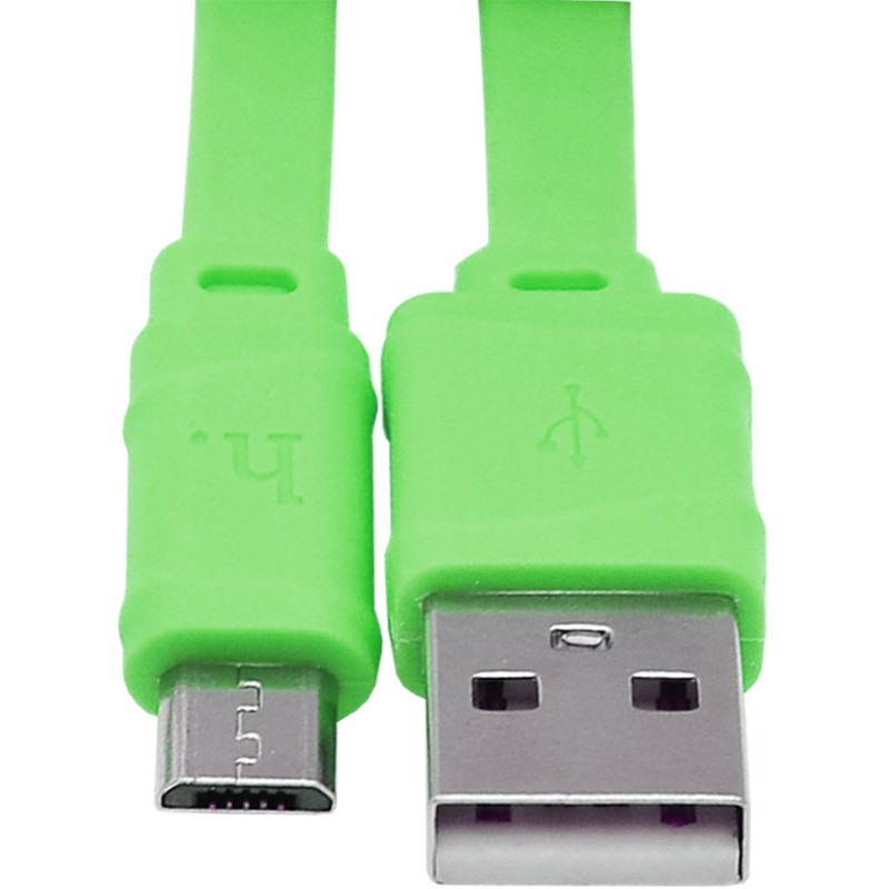 Usb cable Hoco X5 micro green