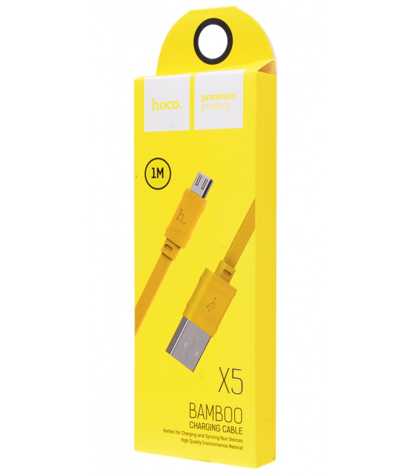 Usb cable Hoco X5 micro yellow
