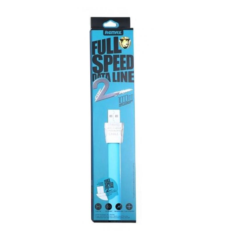 USB кабель Remax RC-011i Full Speed 2 microUSB 1m Blue