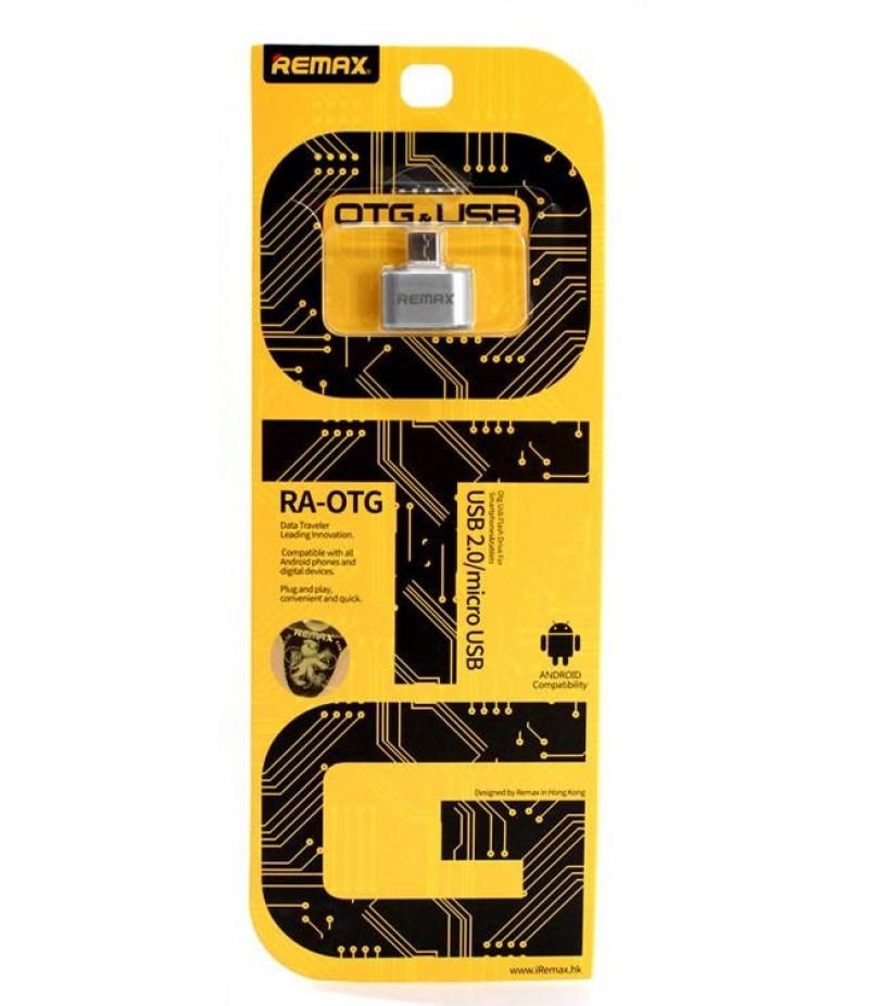 OTG переходник Remax MicroUSB/USB Silver