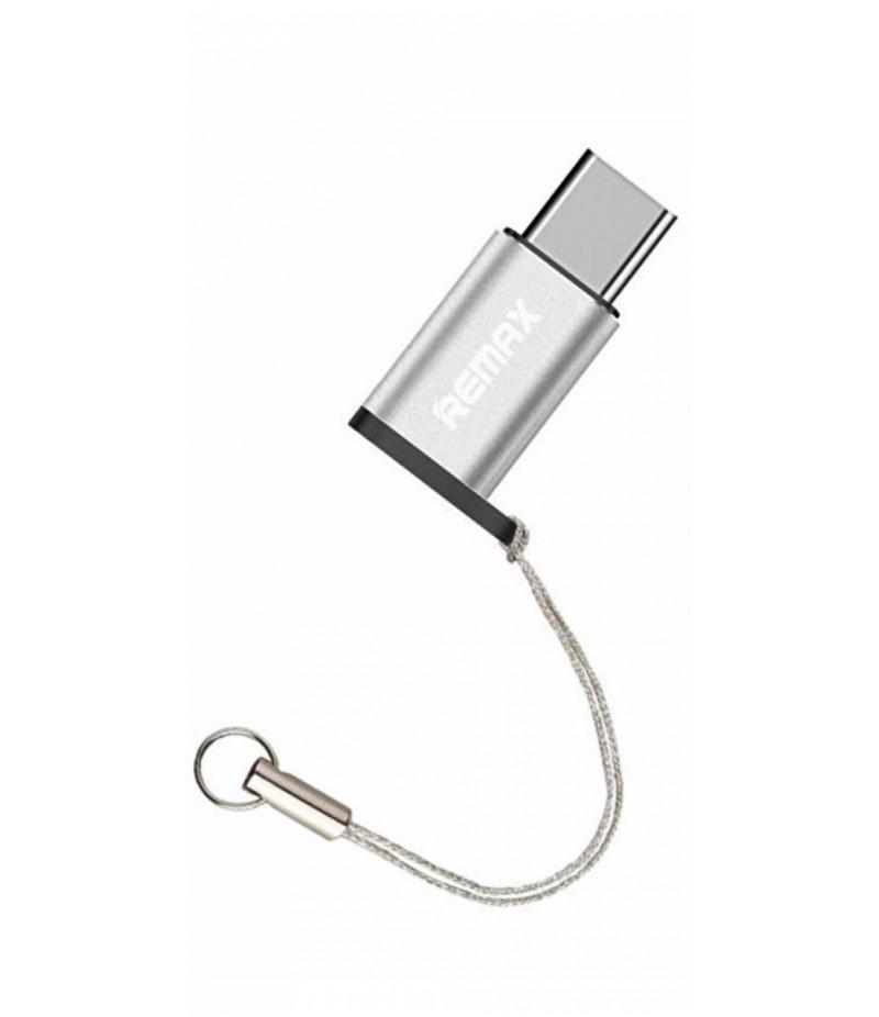 OTG переходник Remax Type-C/MicroUSB Silver