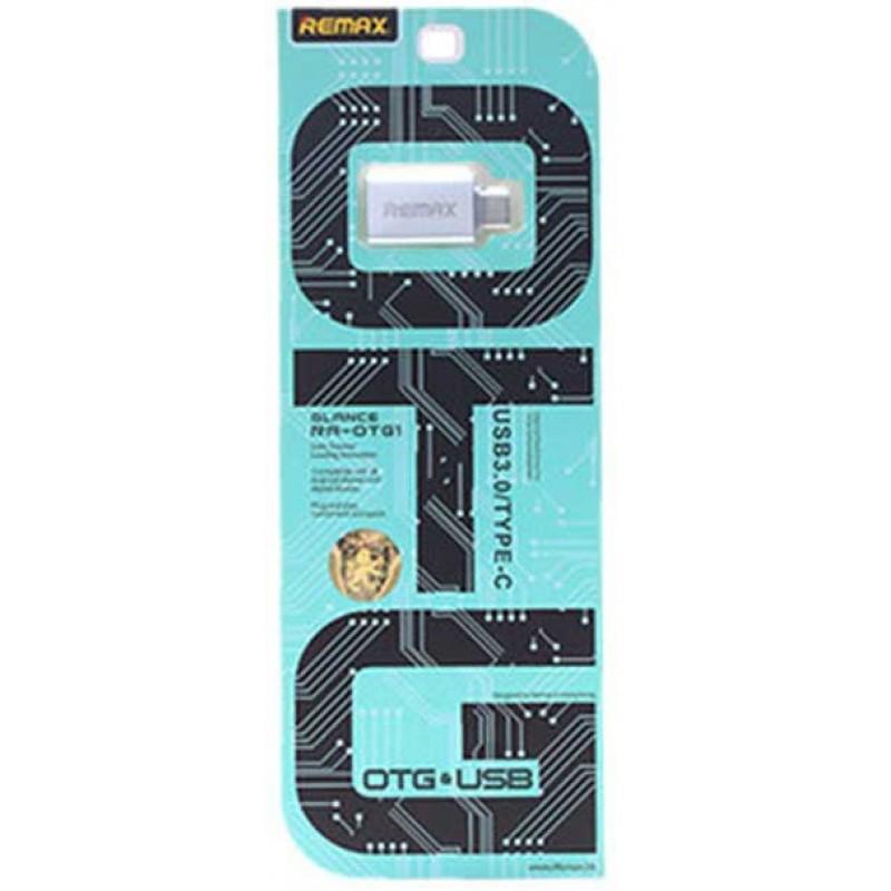 OTG перехідник Remax Type-C/USB Silver