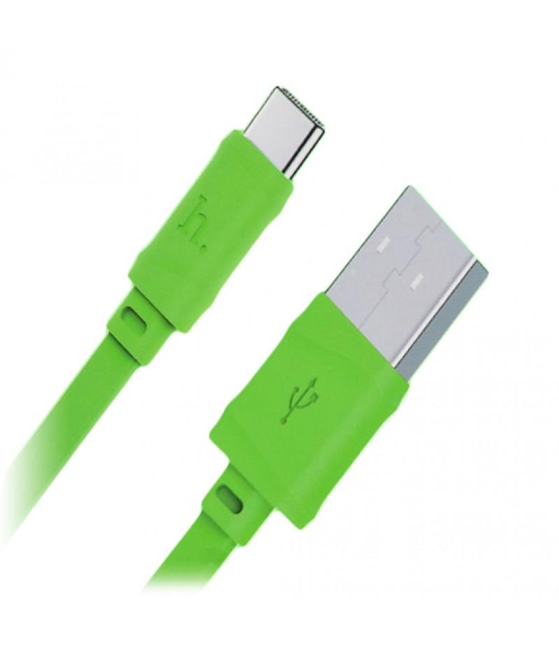 USB кабель Hoco X5 Bamboo Type-C 1.0m Green
