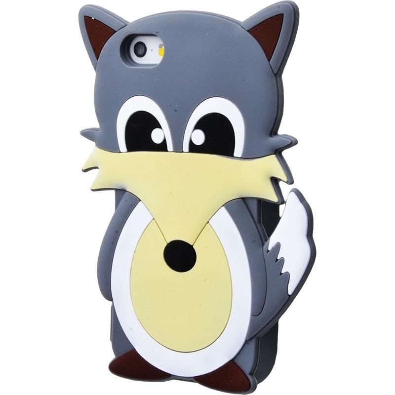 3D чохол Fox iphone 5 gray