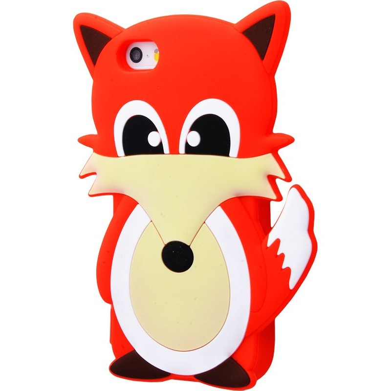 3D чохол Fox iphone 5 red