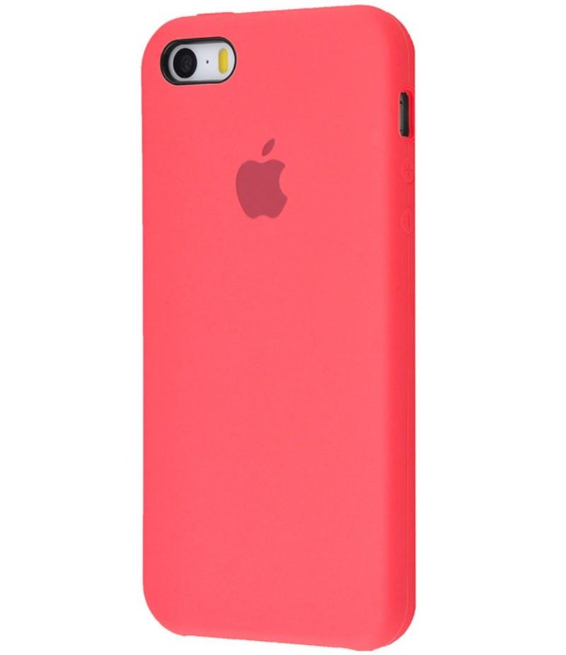 Original Silicone Case (Copy) for IPhone 5/5s/SE Pink Orange