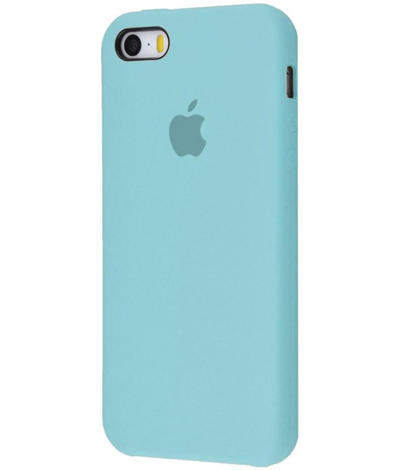 Original Silicone Case (Copy) for IPhone 5/5s/SE Sea Blue
