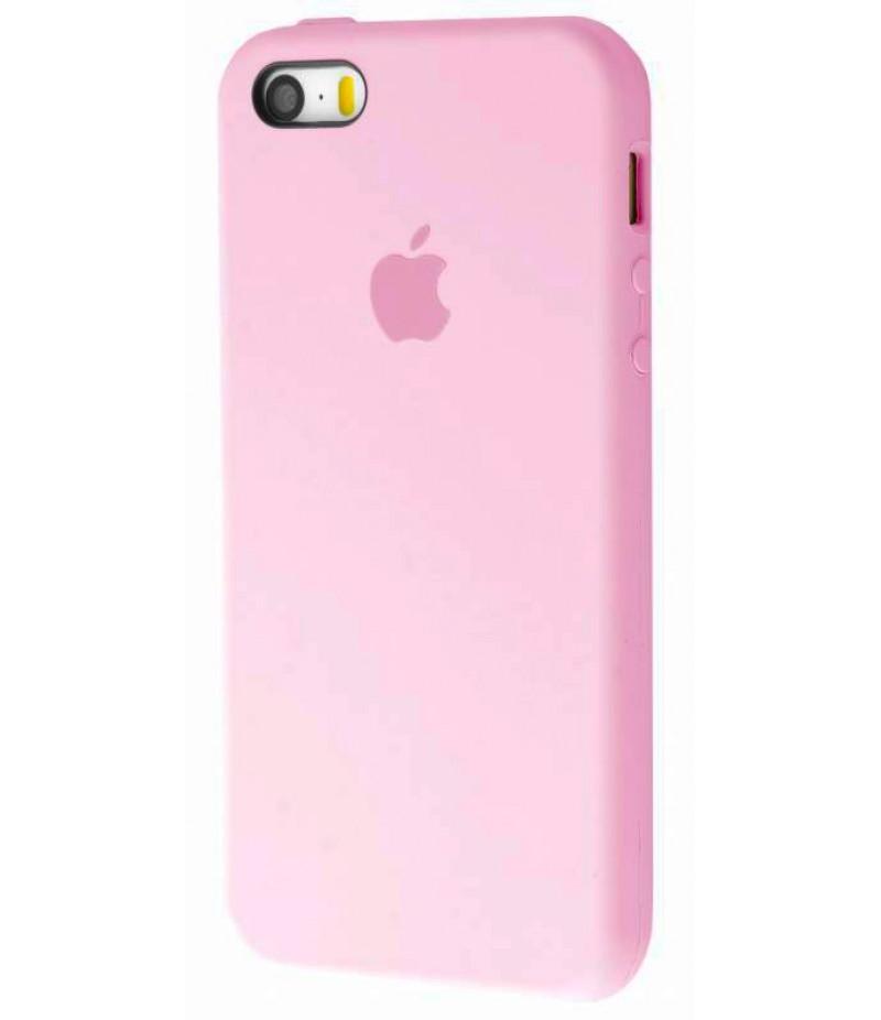 Original silicone case для IPhone 5/5s/SE pink