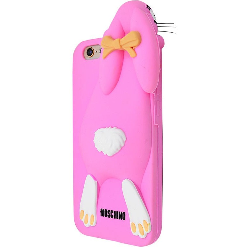 3D чохол Moschino зайчик iPhone 6/6s pink