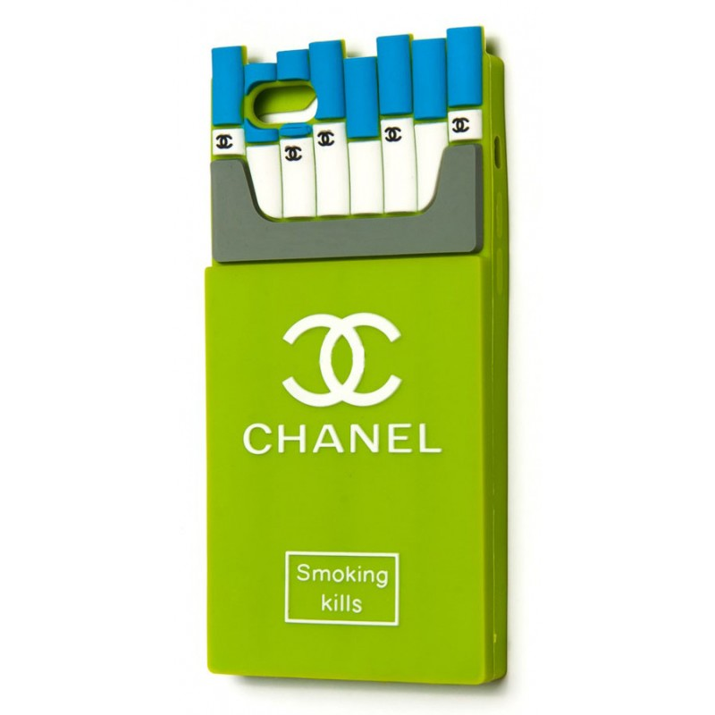 3D чохол Chanel Cigaretts iPhone 6 green
