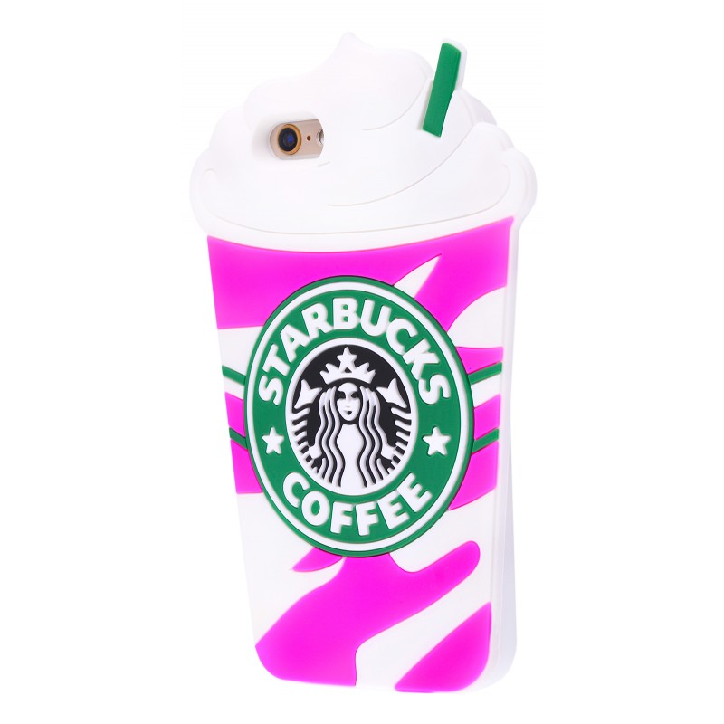 3D чохол Starbucks iPhone 6/6s Pink