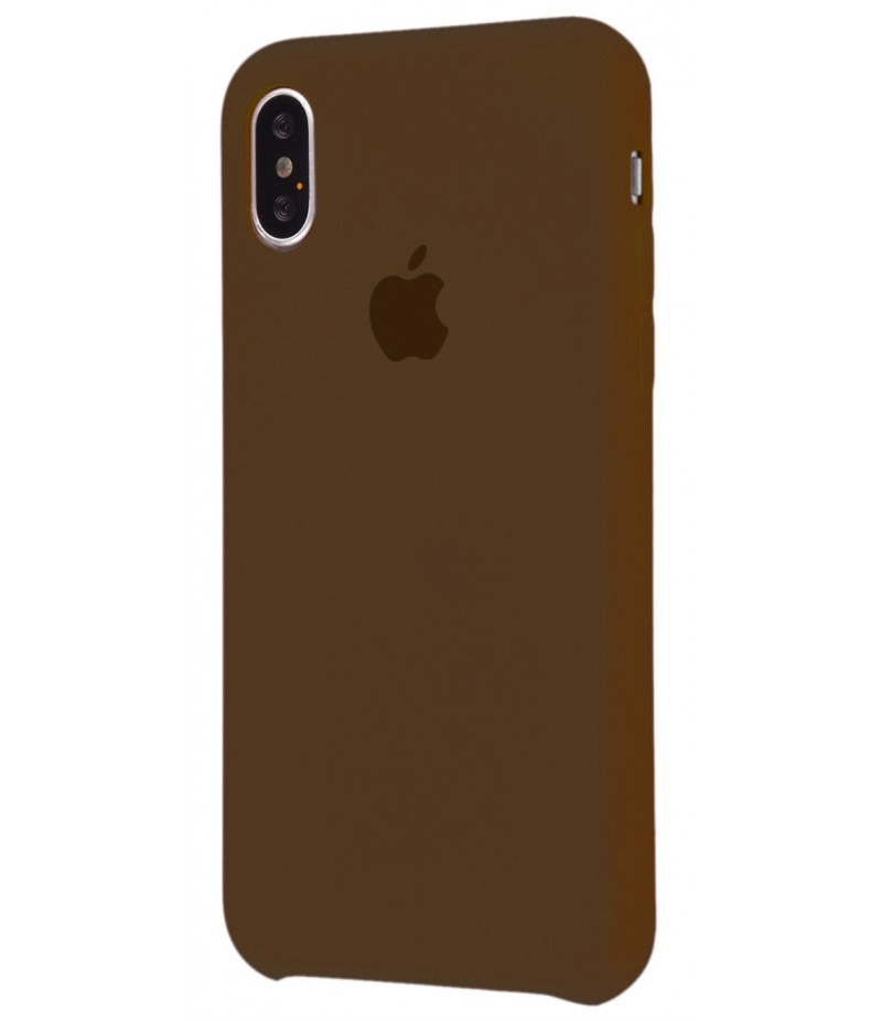 Original Silicone Case (Copy) for iPhone X Brown