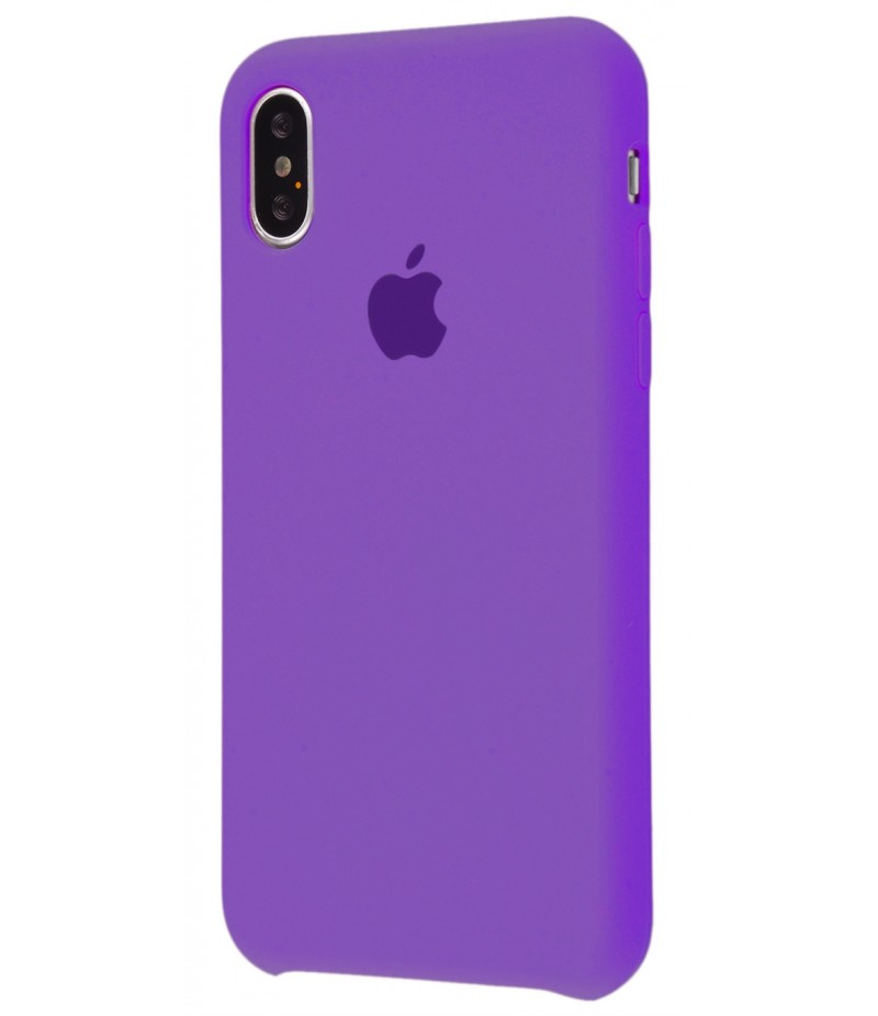 Original Silicone Case (Copy) for iPhone X Fiolet
