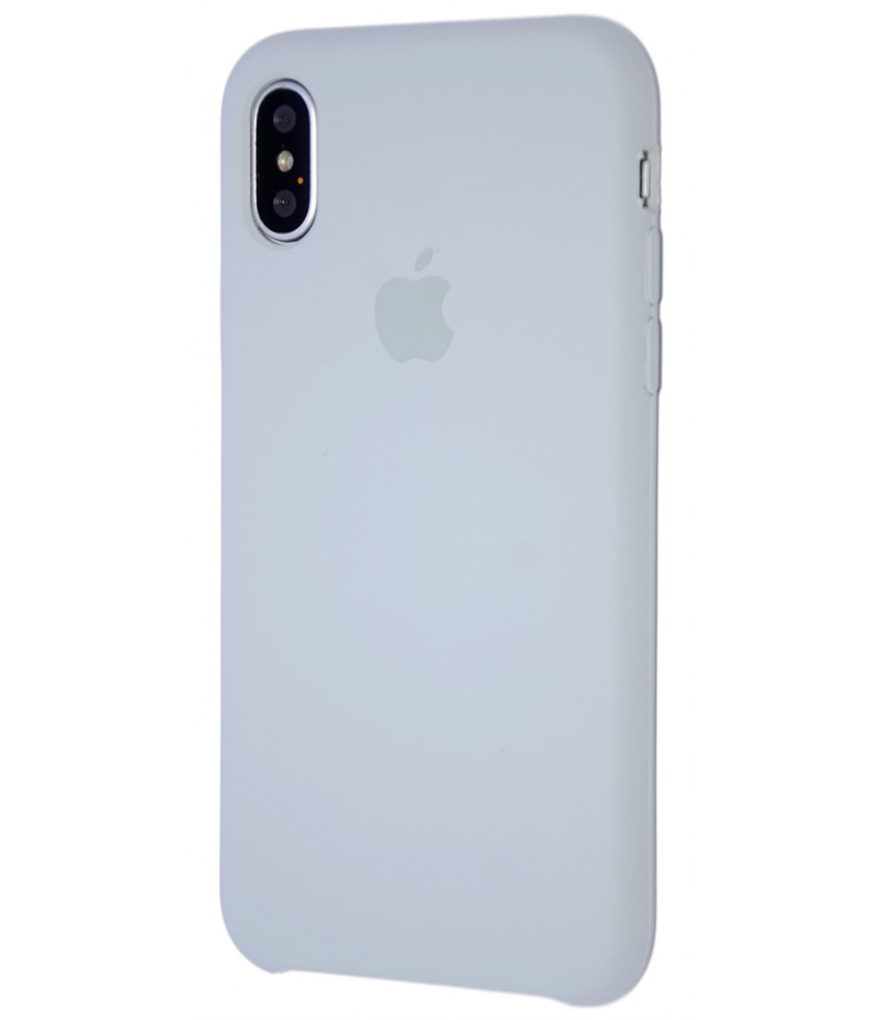 Original Silicone Case (Copy) for iPhone X Grey Blue