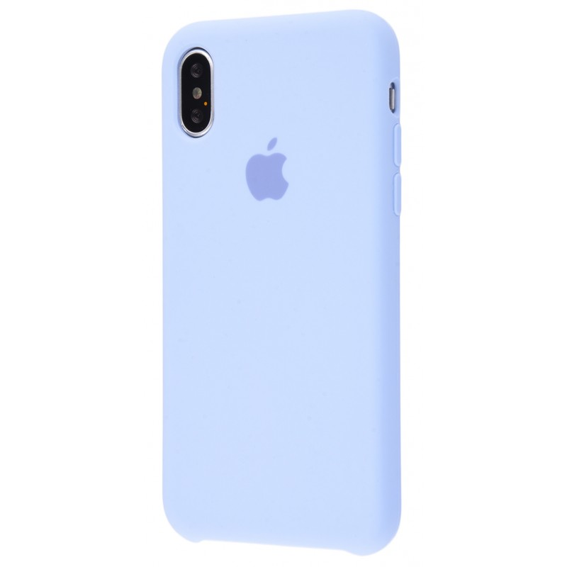 Original Silicone Case (Copy) for iPhone X Lilac Cream