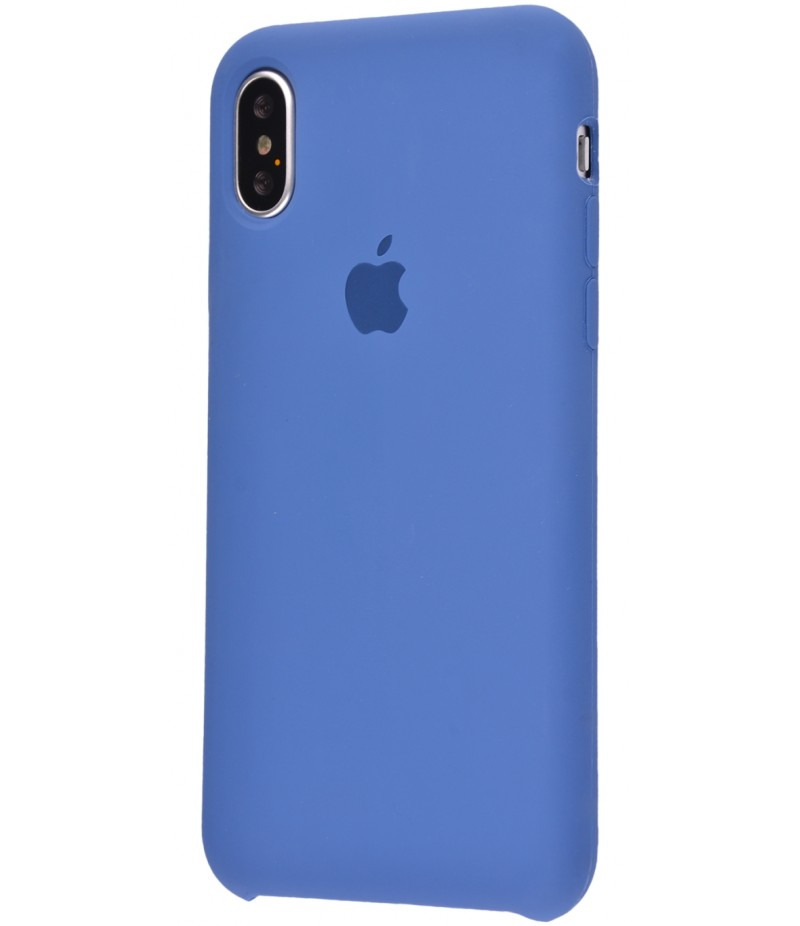 Original Silicone Case (Copy) for iPhone X Ocean Blue