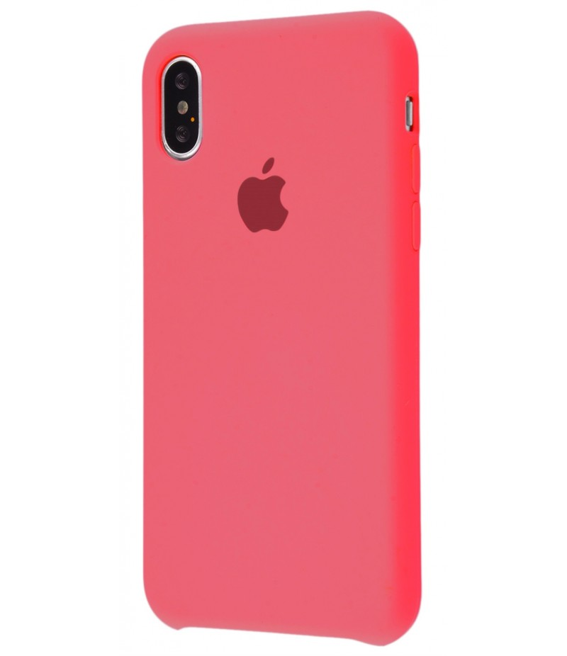 Original Silicone Case (Copy) for iPhone X Pink Orange