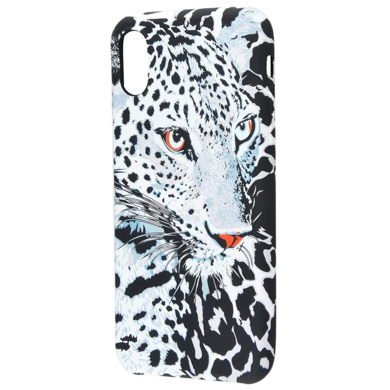 Накладка Luxo TPU Білий Леопард iPhone X