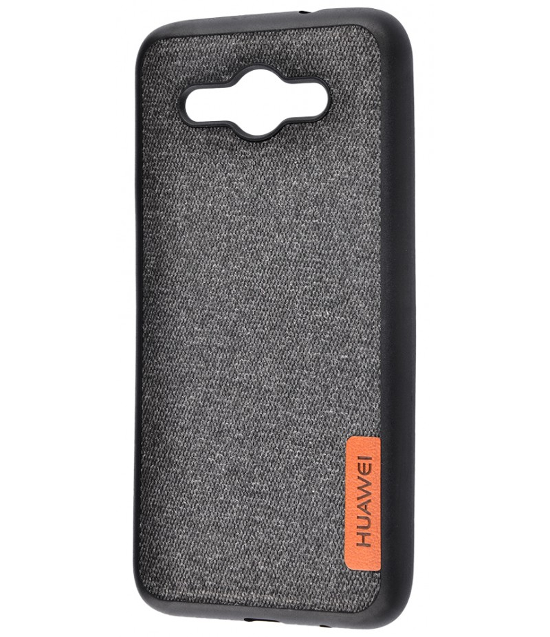 Label Case Textile Huawei Y3 2017 Black