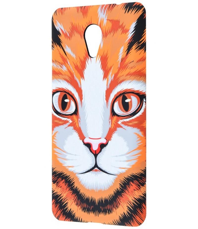 Накладка Luxo Оранжевый кот Meizu M5c