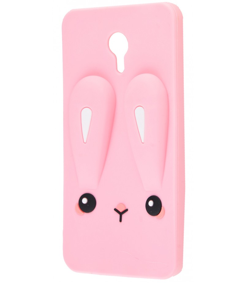 3D чехол Rabbit Meizu M3 Note Pink