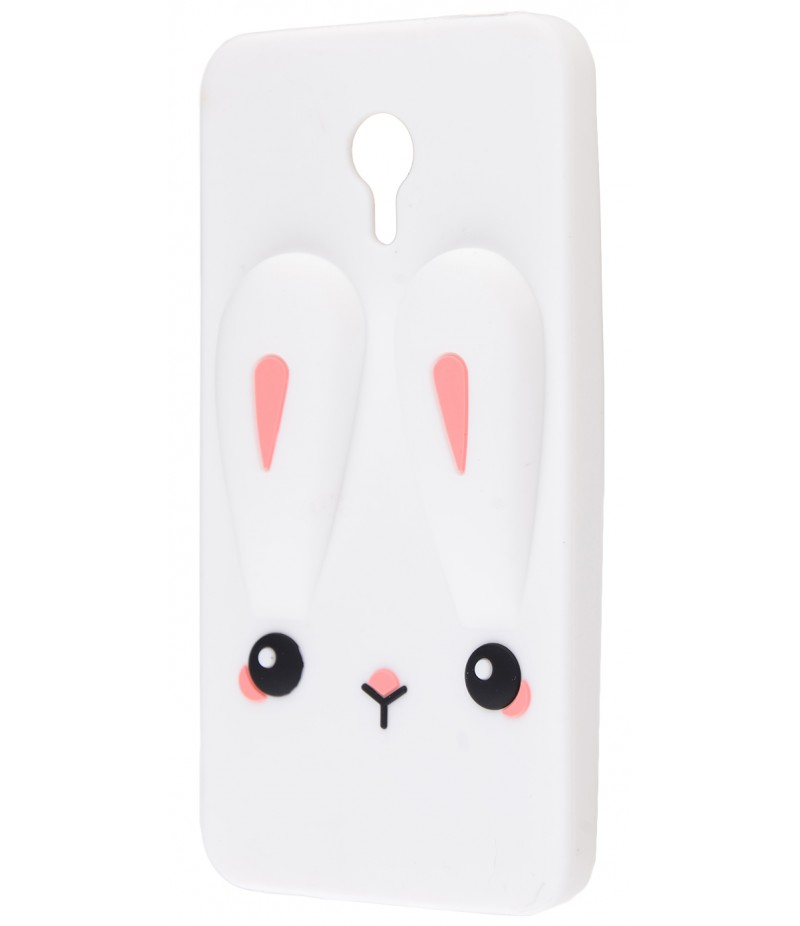 3D чехол Rabbit Meizu M3 Note White