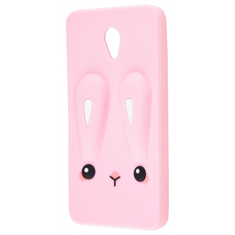 3D чохол Rabbit Meizu M5 Pink