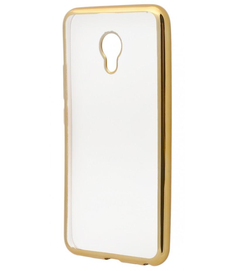 Силикон метализированный Meizu M5 gold