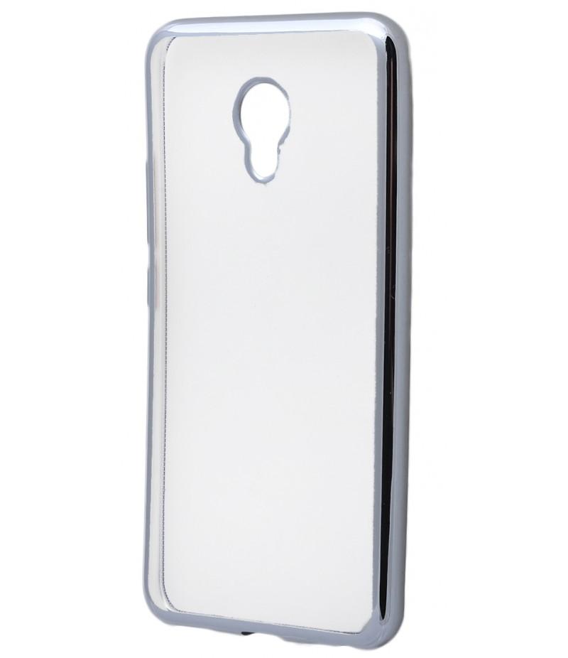 Силикон метализированный Meizu M5 silver