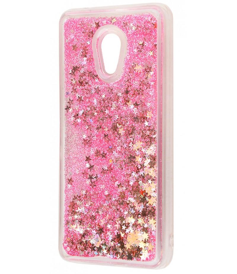 Жидкость внутри блестки Meizu M5 pink